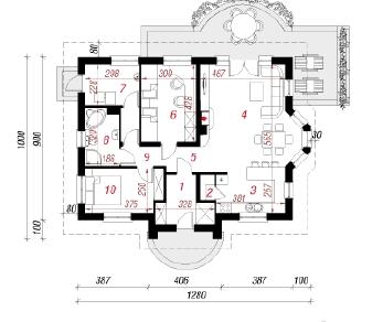 Проект  Дом в лотосах 2, 88.3 м2