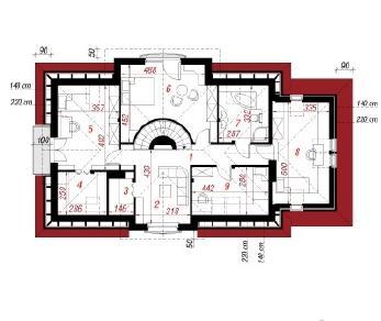 Проект  Дом в орликах, 192.4 м2