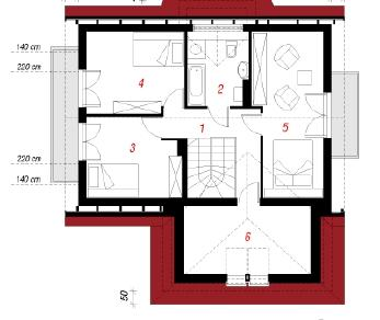 Проект  Дом под каштаном, 130.3 м2