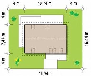 Проект дома Проект Z225, 120.3 м2
