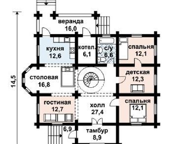 Проект дома AS-2067, 228 м2