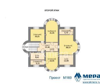 Проект дома M169, 360 м2