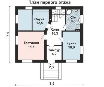 Проект дома AS-2253, 113 м2