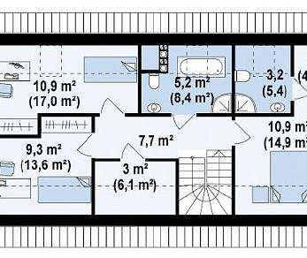 Проект дома Проект Z232, 158.7 м2