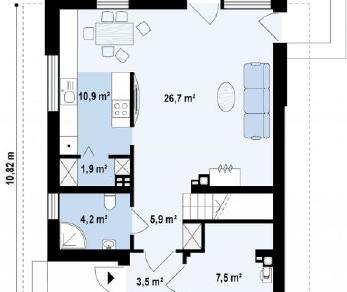 Проект дома Проект z295, 114.7 м2