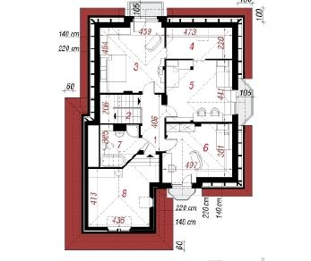 Проект  Дом в кокосах, 196.6 м2