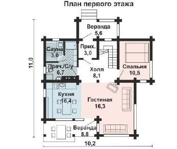Проект дома AS-2193, 128 м2