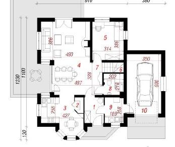 Проект  Дом под фисташковым деревом (Г), 179.1 м2