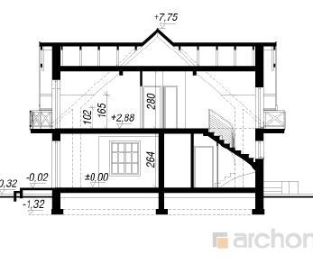 Проект  Дом в фиалках 3, 155.7 м2