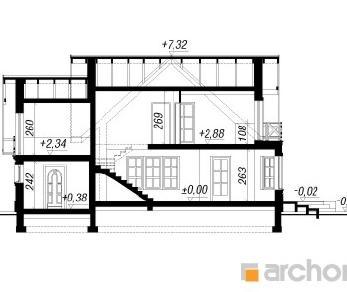 Проект  Дом под горной сосной, 146.7 м2