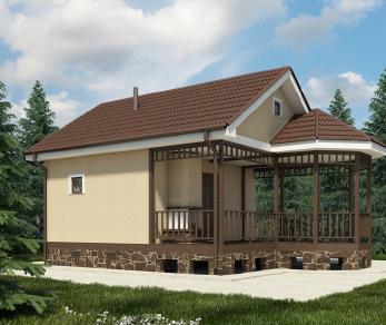 Проект бани Гоби, 40 м2