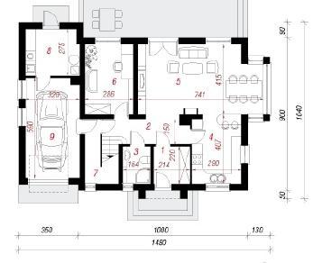 Проект  Дом в сезаме, 178.9 м2