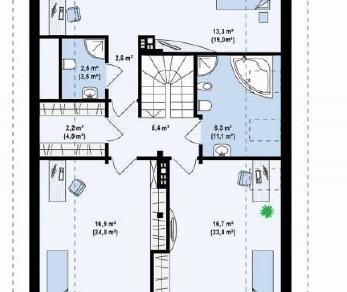 Проект дома Проект z198, 227.4 м2