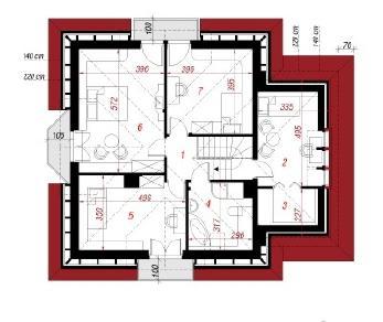 Проект  Дом в нектаринках, 160 м2