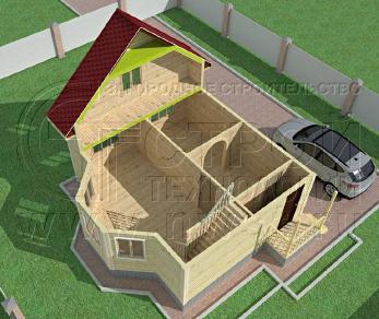 Проект дома Проект дома №84, 47.5 м2