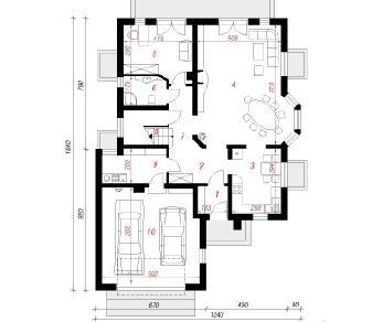Проект  Дом в орхидеях (П), 318.5 м2