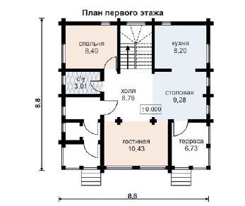 Проект дома AS-2011, 123 м2