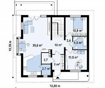 Проект дома Проект Z104, 182 м2