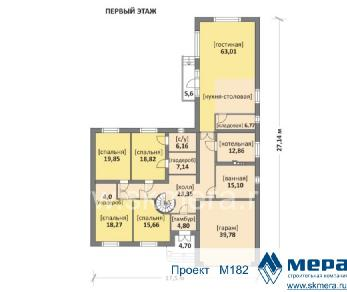 Проект дома M182, 416 м2