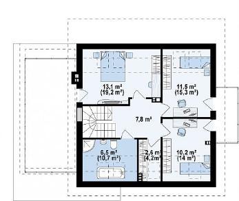 Проект дома Проект Z231, 179.6 м2
