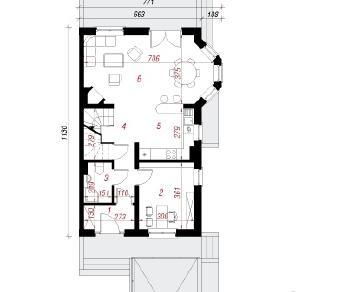 Проект  Дом в дельфиниуме 2(П), 176.5 м2