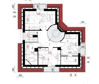 Проект  Дом в алоэ 2(В), 142.6 м2