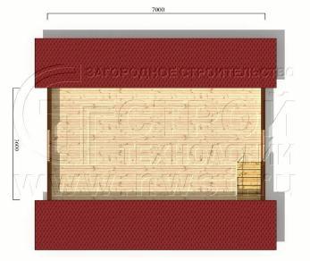Проект дома Дачный дом 6х7 м (базовая комплектация), 42 м2