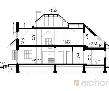 Проект  Дом в зорях, 176.7 м2