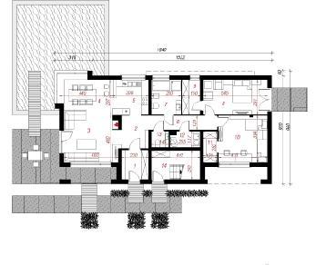 Проект  Дом в золототысячнике, 234 м2
