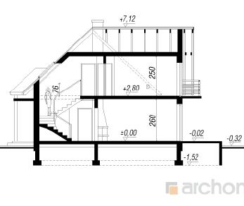 Проект  Дом у пруда, 112.3 м2