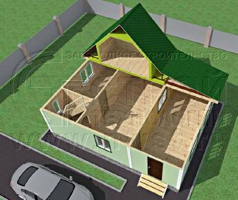 Проект дома Проект дома №79, 63 м2