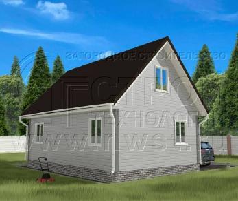 Проект дома Проект дома №40, 54 м2