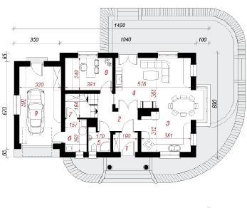 Проект  Дом в вербене 2, 153.4 м2