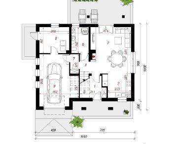 Проект  Дом в тимофеевке, 155.3 м2