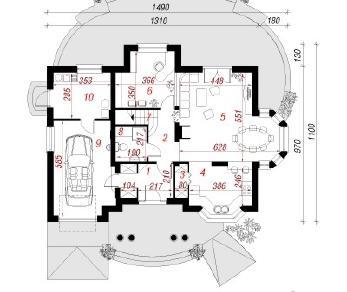 Проект  Дом во вьюнке, 186.9 м2