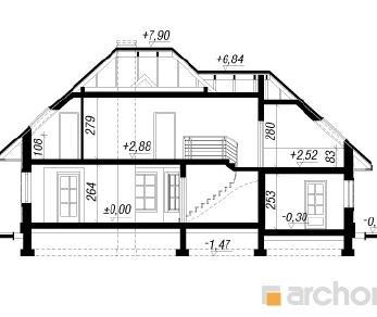 Проект  Дом под белой акацией 2, 168.6 м2
