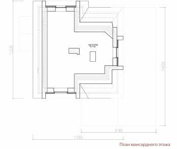 Проект дома Загородный дом с мансардным этажом и террасой, 230 м2