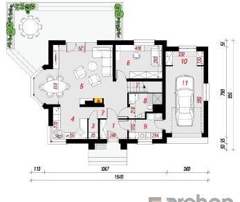 Проект  Дом в рододендронах 6 (А), 178.1 м2