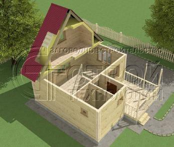 Проект дома Проект дома №11, 24 м2