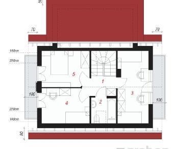 Проект  Дом в сон-траве 2, 98.7 м2