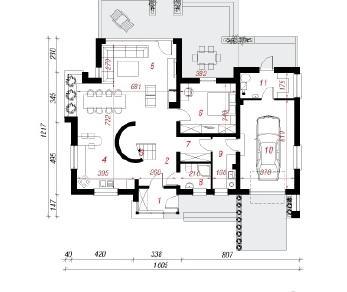 Проект  Дом под амбровым деревом, 179.4 м2