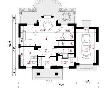 Проект  Дом под белой акацией 3, 146.8 м2