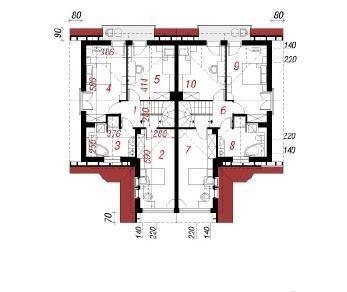 Проект  Дом в клематисах 5, 240.4 м2