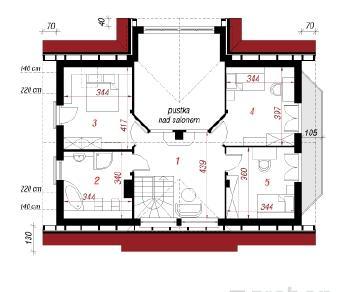 Проект  Дом в мелиссе, 147.4 м2