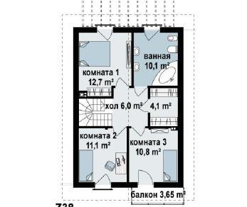 Проект дома Проект z38, 110.5 м2