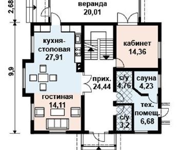 Проект дома AS-2017, 192 м2
