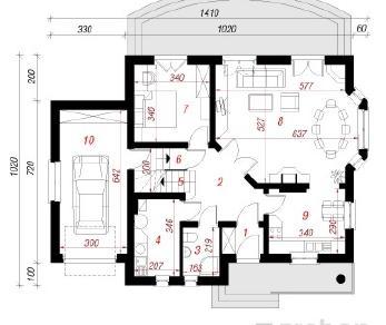 Проект  Дом в плюще 2, 157 м2