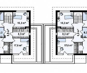 Проект дома Проект Zb2, 230.4 м2