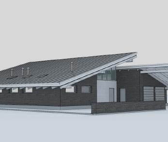 Проект дома Проект одноэтажного коттеджа, 250 м2