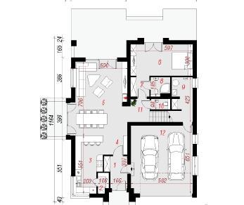 Проект  Дом в хебе 2, 240.1 м2